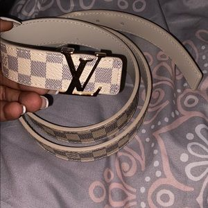 White Louis Vuitton Belt
